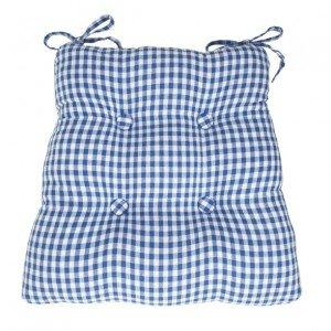 gingham seatpad mavi